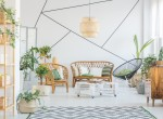 Decorative tape in living room